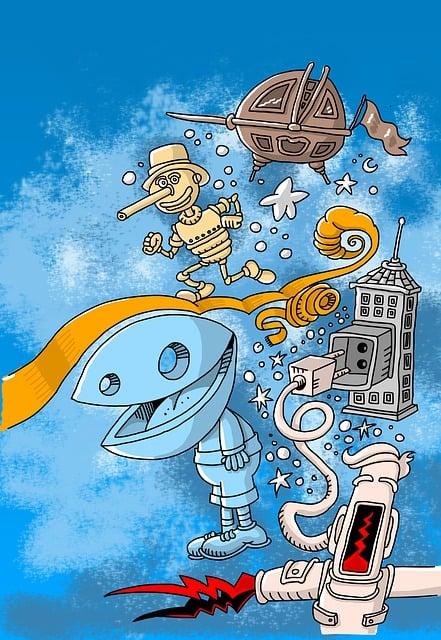 Art, Comic, Figure, Home, Electricity