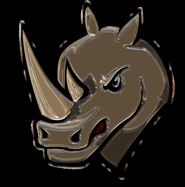 Rhino, Metallizer, Art, Glass, Factory