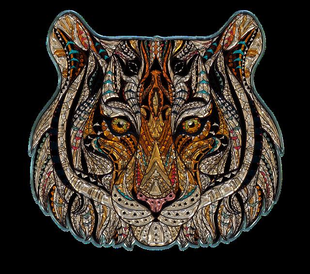 Tiger Head, Metallizer, Art, Glass, Factory