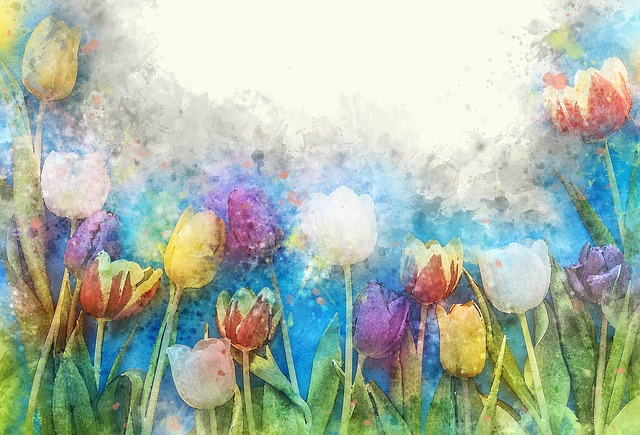 Flower, Color, Floral, Watercolor, Art, Tulip, Nature