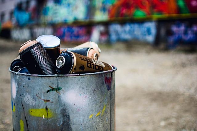Graffiti, Art, Cans, Street Art