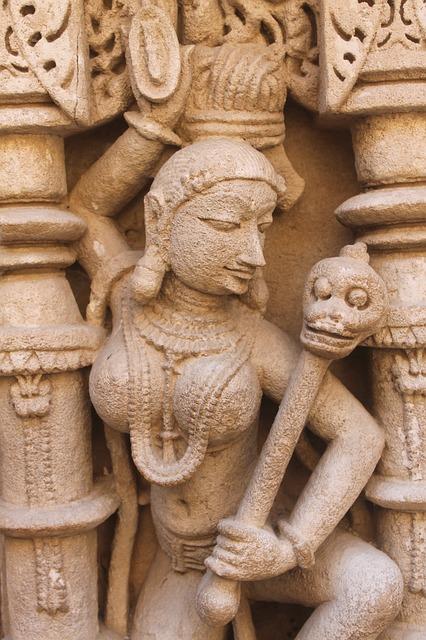 Art, Mural, Stone, Old, Heritage, India, Gujarat, Rani