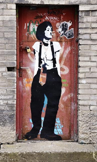 Charlie Chaplin, Lookalike, Street, Art, Graffiti