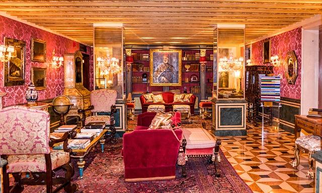 Venice Italy Gritti Palace, Ornate, Hotel, Art, Luxury