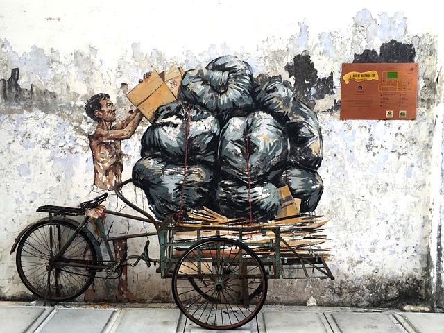 Ipoh, Old Town, Trishaw, Art, Jalan Shala, Malaysia