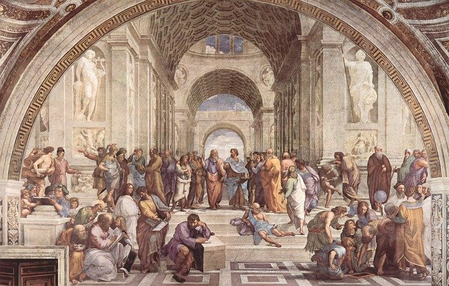 Art School Of Athens, Raphaël, Italian Painter, Fresco
