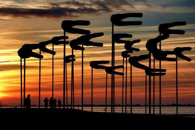 Sunset, Wadden Sea, Art, North Sea