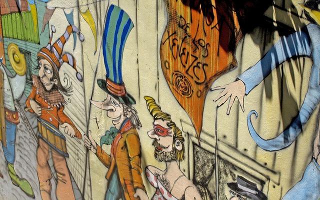 Cartoon, Wall, Painting, Painted Wall, Art, Caminito