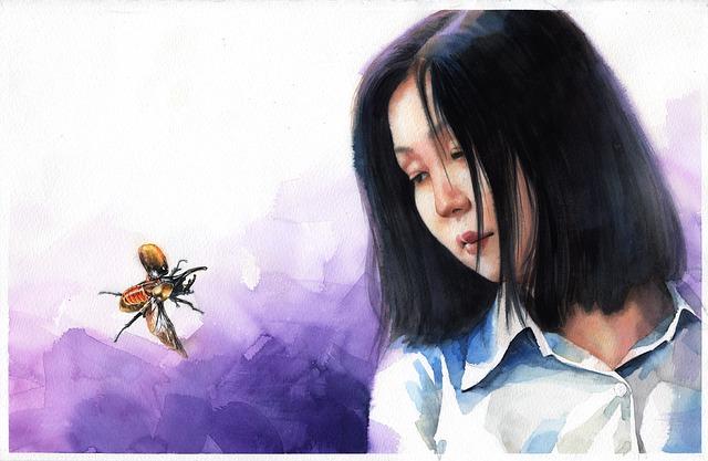 Again, Watercolor Portrait, Art, Watercolor