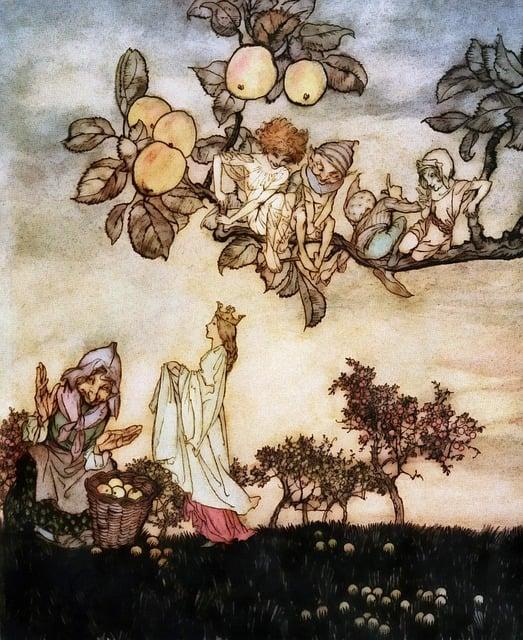 Arthur Rackham, Vintage, Victorian, Literature