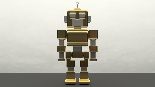 Robot, Metal, Artificial Intelligence, Golden