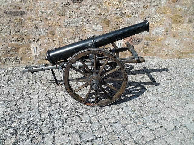 Gun, Fire Weapon, Artillery, War, History, Old, Defense