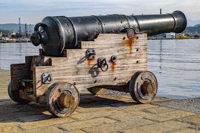 Cannon, Barrel, Artillery, Military, History, Old