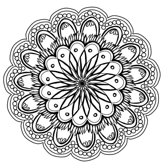 Flowers Mandala Hand Drawing Pencil Artist