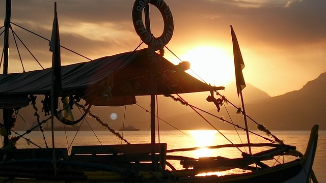 Sunset, Boat, Artistic, Reflection, Philippines