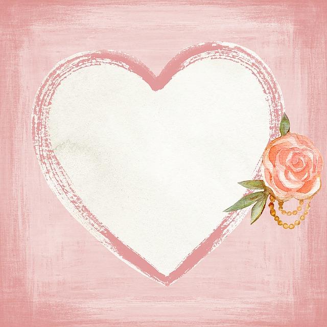 Heart, Shape, Love, Flower, Scrapbook, Arts, Crafts