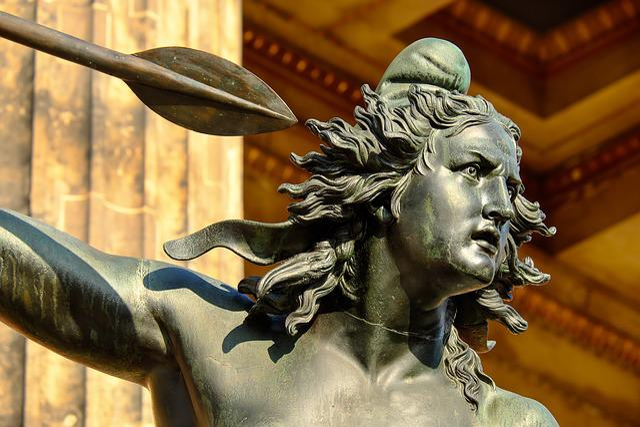 Sculpture, Bronze, Woman, Amazone, Fighter, Artwork