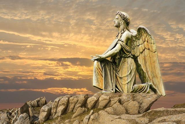 Angel, Statue, Sculpture, Sky, Art, Travel, Artwork