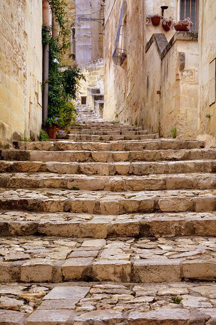 Stairs, Ascent, Scale, Staircase, Ancient, Sassi