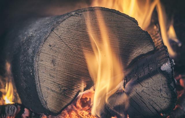 Log, Wood, Fire, Firewood, Embers, Ash, Burn, Burning