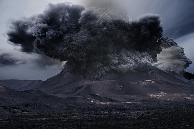 Volcano, Smoke, Ash, Mountain, Landscape, Explosion