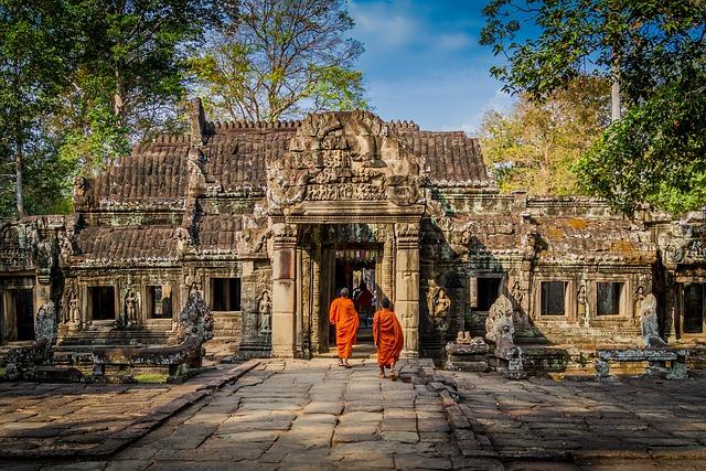 Angkor, Wat, Cambodia, Old, Asia, Architecture, Ruin