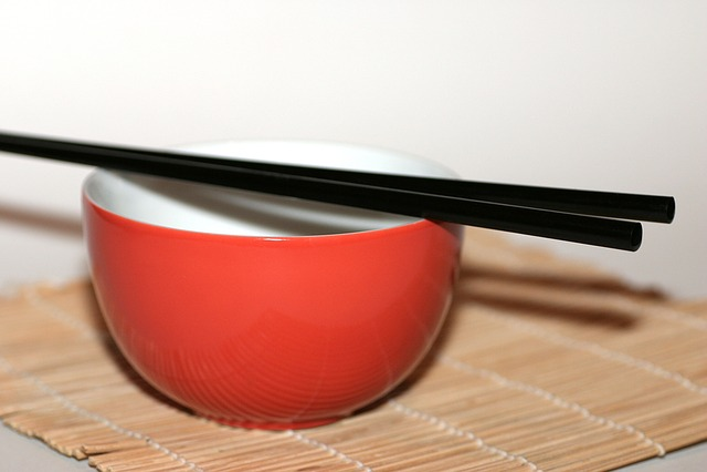 Chopsticks, Bowl, Chinese, Japanese, Asia, Eat, Bamboo