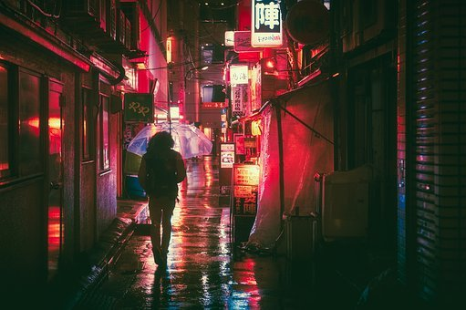 Japan, Osaka, Night, Asia, Landmark, Travel, Japanese