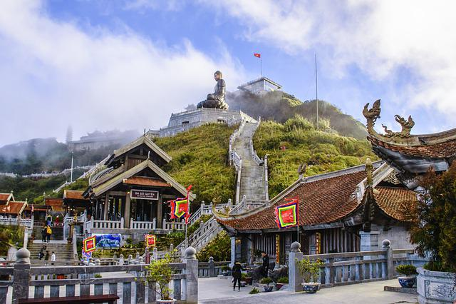 Buddha, Landscape, Mountains, Sapa, Travel, Asia