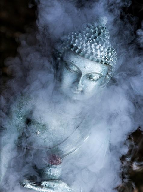 Smoke, Vape, Buddha, Statue, Buddhism, Religion, Asia
