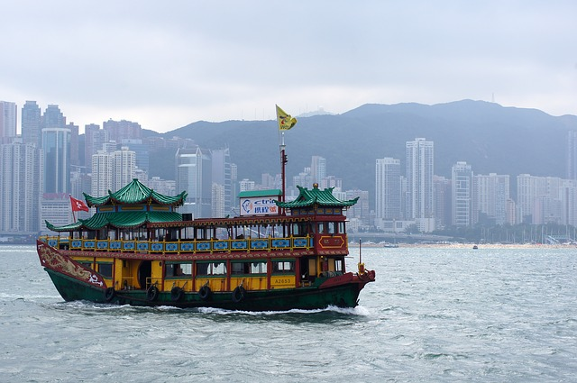 Hong Kong, Sea, Ship, City, Travel, Asia, China