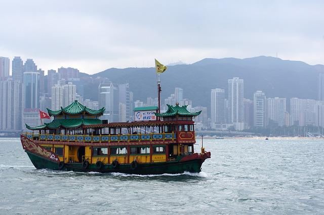 Hong Kong, Sea, Ship, City, Travel, Asia, China