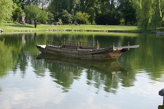 Asian Boat, Water, Lake, Reflection, River, Pool