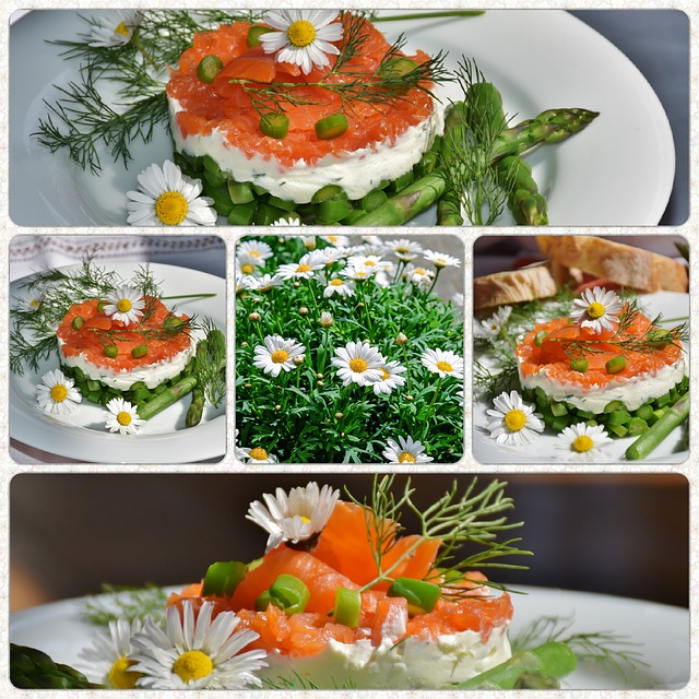 Collage, Asparagus Green, Starter, Asparagus Salad