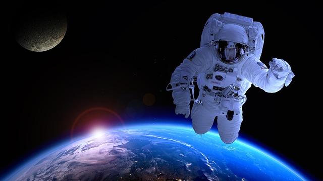 Astronaut, Astronomy, Satellite, Moon, Forward