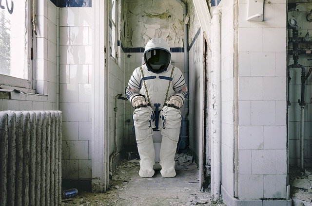 Astronaut, Wc, Space Travel, Toilet, Toilet Seat, Loo