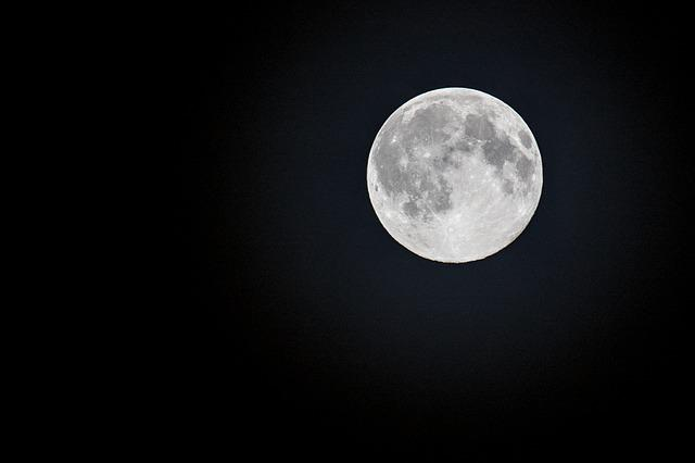 Full Moon, Month, Night, Science, Astronomy, Lunar