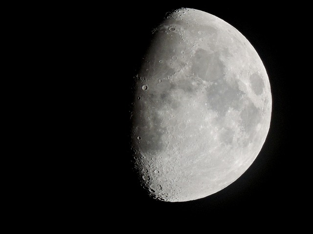 Moon, Three Quarter Moon, White Moon, Astronomy