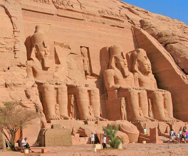 Egypt, Aswan, Abu Simbel, Nile, River, Temple, Ruins