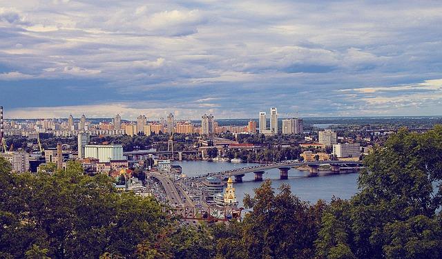 Ukraine, Kiev, Panorama, City, At Home
