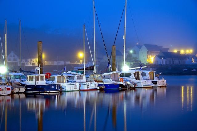 Blue Hour, Brittany, Atlantic Coast, France, Atlantic