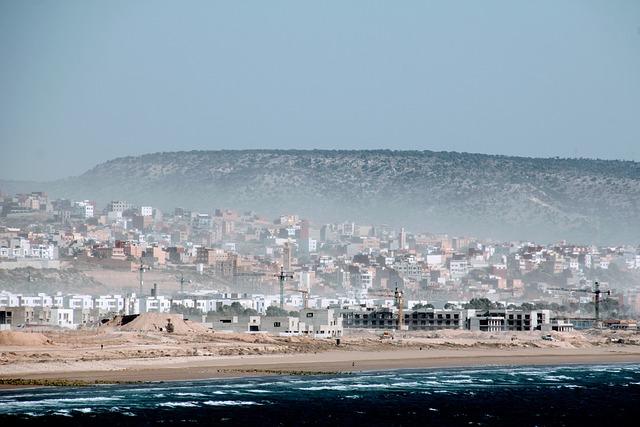 Morocco, Beach, Building, Coast, Atlantic, Mood, Sea