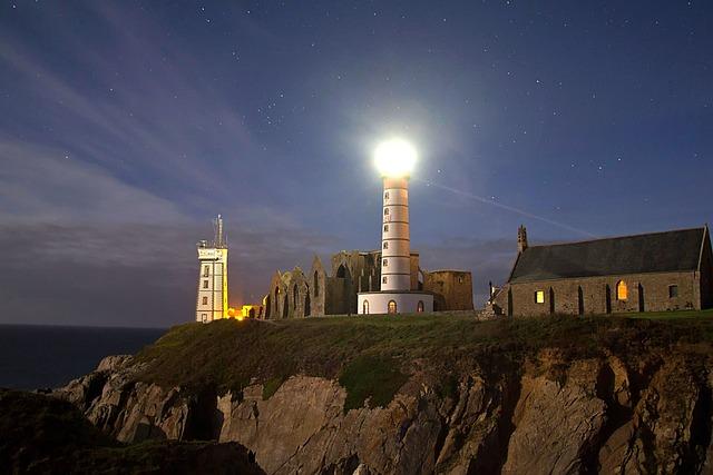 Blue Hour, Brittany, Point St Mathieu, Atlantic Coast