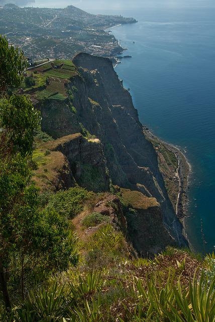 Portugal, Madeira, Cliffs, Atlantic