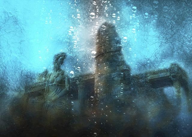 Atlantis, Sea, Ruins, Water, Underwater, Ancient, Old