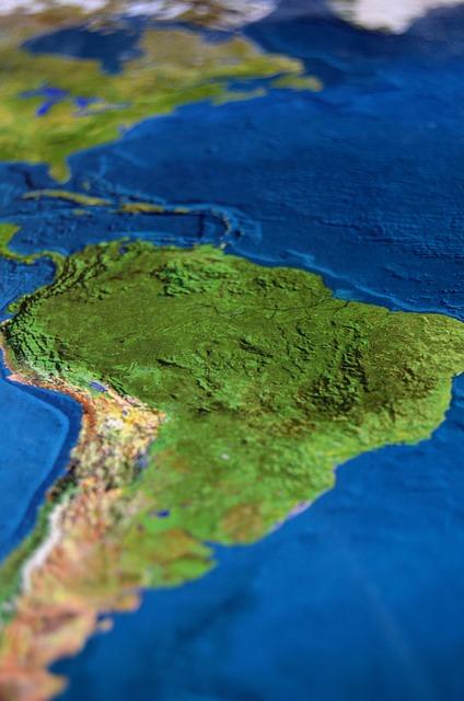Map, South America, Atlas