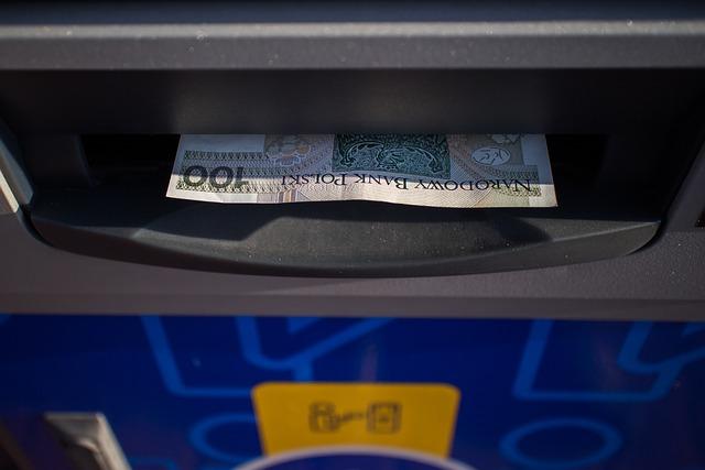 Atm, 100 Pln, Buck, Gold, Money, Cash, Payment, Finance
