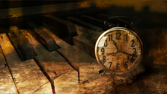 Piano, Clock, Time, Vote, Atmosphere, Artistic