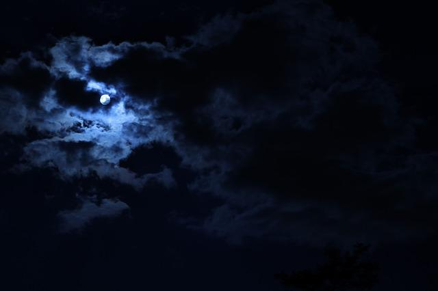 Moon, Sky, Clouds, Nature, Outdoor, Night, Atmosphere
