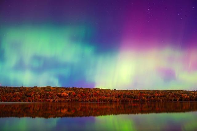 Aurora Borealis, Northern Lights, Atmosphere, Sky